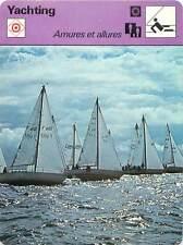 FICHE CARD Tribord Armure Babord Allure Petit Largue Vent de Travers Yacht 70s
