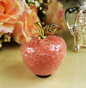 Crystal Clear Glass Apple Swarovski Elements Mother's Day Mom Nan & Gift Box