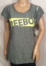 Reebok Slim Fit Womans Performance Running Shirt,Grey-Medium