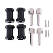 4 pcs Noir Roue Hex Combiner 12mm Hexagon Adaptateur pour Axial SCX10 1/10