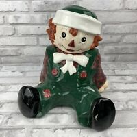 Sakura Raggedy Andy Cookie Jar 10.5 Inches 1998 Hand Painted