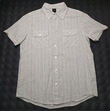 Men's Vtg 90's BKE Conture Fit button up short sleeve 100% cotton shirt Medium
