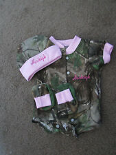 Personalized Realtree Camo Camouflage 3PC Baby Infant Newborn Set Girl Pink trim