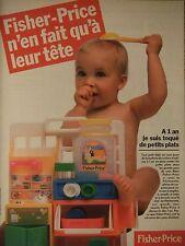 PUBLICITÉ 1995 FISHER PRICE N'EN FAIT QU'A LEUR TÊTE - ADVERTISING