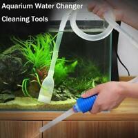 Aquarium Fish Tank Vacuum Water Change Siphon Gravel Pump Tools Filters