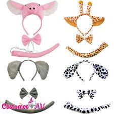 Kids Animal Set Costume Animal Zoo Party Bowtie Tail Child Book Week Headband
