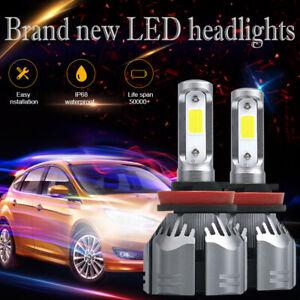 2Pcs H11 H9 H8 LED Headlight Bulb 72W 9000LM Fog Light Set DRL Lamps White 6500K