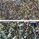 """58W""""x30H"""" ALCHEMY, 1947 by JACKSON POLLOCK - SPLATTER DRIPPED CHOICES of CANVAS"""