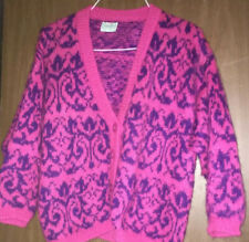 Vintage United Colors of Benetton Sweater Cardigan Mohair Italy  Size 46 Medium