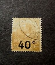 Monaco Stamp Scott#  J20  Postage Due Surcharged 1918    C414