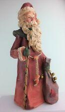 "Roman, Inc. Santa Figurine 12"" Detailed 2004 Signed by Artisian"