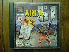 Jeux Vidéo Playstation 1 PS1 Area 51 Midway Boite Livret PAL Jeu Tir Pistolet