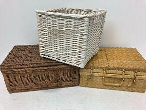 Wicker Basket Storage Hamper Bundle x3 H11