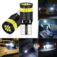 2x 24 LED CANBUS T10 501 194 W5W SMD Car HID Error Free Wedge Light White Bulb