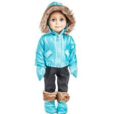 18 In Doll Clothes Outfit 6 PCE SKI WEAR JACKET, PANTS, BOOTS Fits American Girl