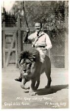 RPPC,El Monte,CA.Gays Lion Farm.Mr.Gay Riding Pluto,San Gabriel Valley,c.1937>