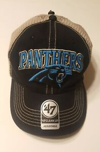 *NEW Carolina Panthers '47 Clean Up Adjustable snapback Hat cap (OSFA )