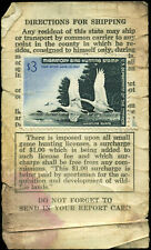 US Scott #RW33 (Unsigned) on a 1966 Minnesota Small Game Hunting License