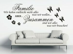 g317 WANDTATTOO Spruch Familie Wir haben Zusammen Sticker Wandaufkleber Zitat 1
