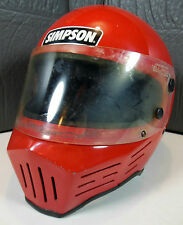 Rare Vtg. Simpson M32 Cafe Racer Motorcycle Racing Helmet Sz. 7. Free Shipping