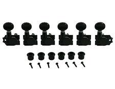 Kluson Revolution Diecast Tuners 6 Inline Vintage H-Mount Black KTNC-3805BL