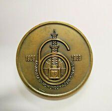 Antique Bronze medal from 60th Anniversary of  British Petrolium Portugal - 1969