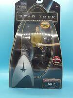 Star Trek Captain Kirk Action Figure Bonus Silver Starfleet Emblem Stand