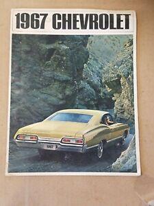 1967 Chevrolet Impala SS Caprice Biscayne Dealer Sales Brochure