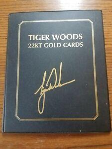 2001 Tiger Woods 22kt gold Upper Deck commemorative card set Masters U.S. Open