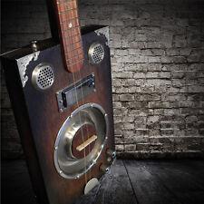 **Delta Star PRO 3-String Dobro Style Resonator Cigar Box Guitar w/Humbucker PU