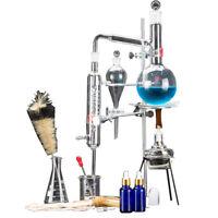 500ml Neue Labor ätherisches Öle Destille Rein Wasser Gerät Glaswaren Satz