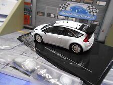 CITROEN C4 WRC white Rallye Spec white plainbody + Wheelset für Umbau IXO 1:43