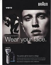 BRAUN 2010 magazine ad print art clipping SERIES 3 SHAVER  wear your face