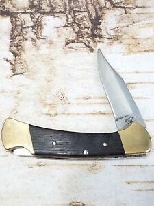 Vintage USA Buck 112 Wood Handled Lockback Pocket Knife