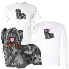 Skye Terrier Dog Breed Cute Portrait Short / Long Sleeve White T Shirt S-3X