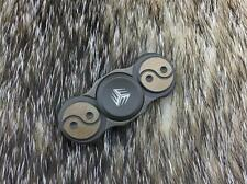 "WE KNIFE Fidget Spinner Yin Yang Bronze Titanium Hand Top Ceramic 2"" S01B"