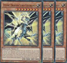 YuGiOh 3x Divine Dragon Lord Felgrand SR02-EN001 ULTRA ENGLISCH TCG AtzenJens