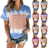 Womens Summer Short Sleeve T Shirt Boho Floral Casual O Neck Loose Tops Blouse