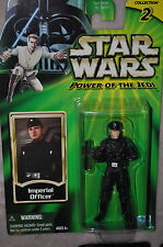 STAR WARS POWER OF THE JEDI POTJ IMPERIAL OFFICER MOMC RARE BROWN HAIR VARIANT