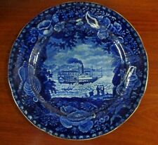 Wood & Sons Burlsem Staffordshire Historical Blue Scene _Union Line Rare Antique