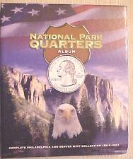 National Park Quarters Classic Album 2010 Through 2021>Holds both P & D mints