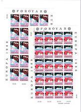 1988 MNH Europa sheets, Faeroer, Färöer, Faroer, Faroe Islands, postfris
