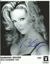 Barbara Moore Signed Playboy 8x10 Photo PSA/DNA COA Official Playmate Headshot