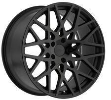 18x8.5 TSW Vale 5x112 Rims +43 Black Rims Fits VW cc eos golf jetta gti