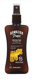 Hawaiian Tropic Protective Tanning Sun Tan Oil Spray SPF 15