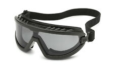 Gateway Wheelz Foam Padded Anti Fog Smoke/Gray Black Safety Goggles Glasses Z87+