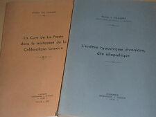 1934-1940 DOCTEUR léa CHAUDRE faculté medecine à strasbourg ANEMIE colibacillose
