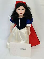 """Marie Osmond Limited Edition Snow White Porcelain Doll 223/5000 18"""" Tall"""