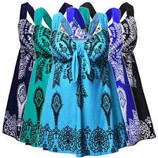 Womens Swimdress Paisley Swimsuit Tankini Top & Botton Swimwear AU Plus sz 20-32