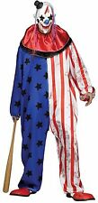 Mens American Dead Zombie Clown + Mask Halloween Film Fancy Dress Costume Outfit